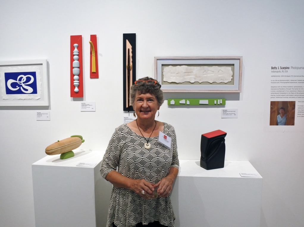 Betty at the Center for Art in Wood in 2016