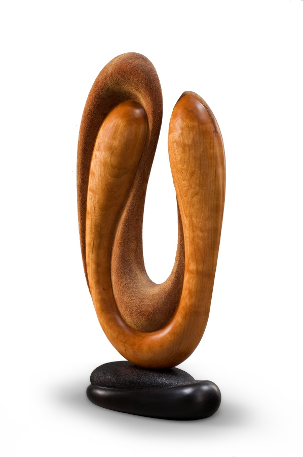 Soft Shadows - Wood Sculpture by Betty Scarpino