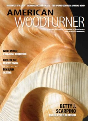 American Woodturners Cover - Betty Scarpino Feature