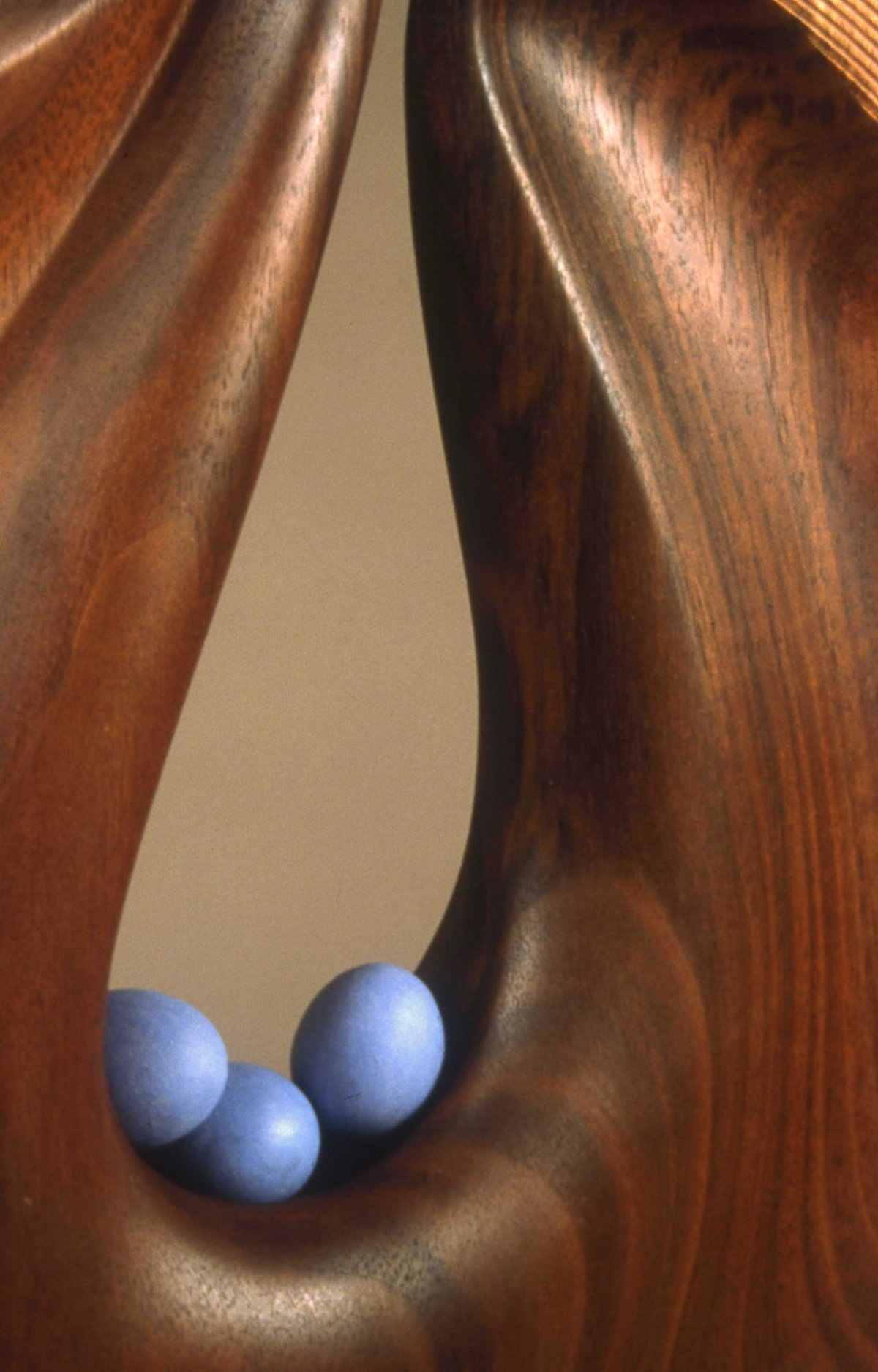 Bearing Blue Eggs (detail) by Betty Scarpino
