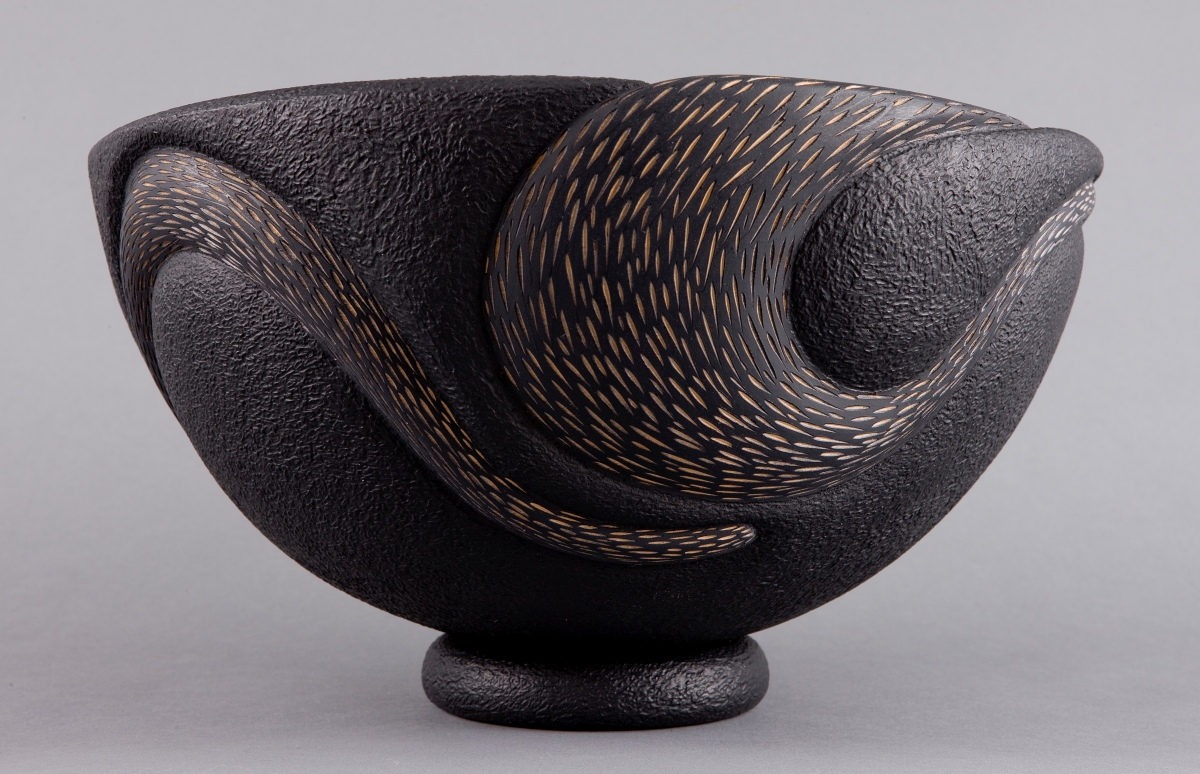 Black Bowl by Betty Scarpino