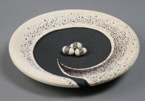 Black, White Egg Bowl by Betty Scarpino