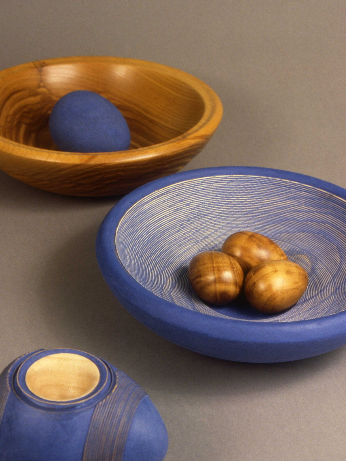 Blue Egg Bowl by Betty Scarpino