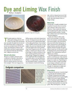 Dye And Liming Wax Finish by Betty Scarpino