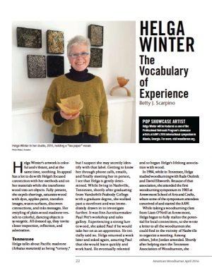 Helga Winter Article by Betty Scarpino