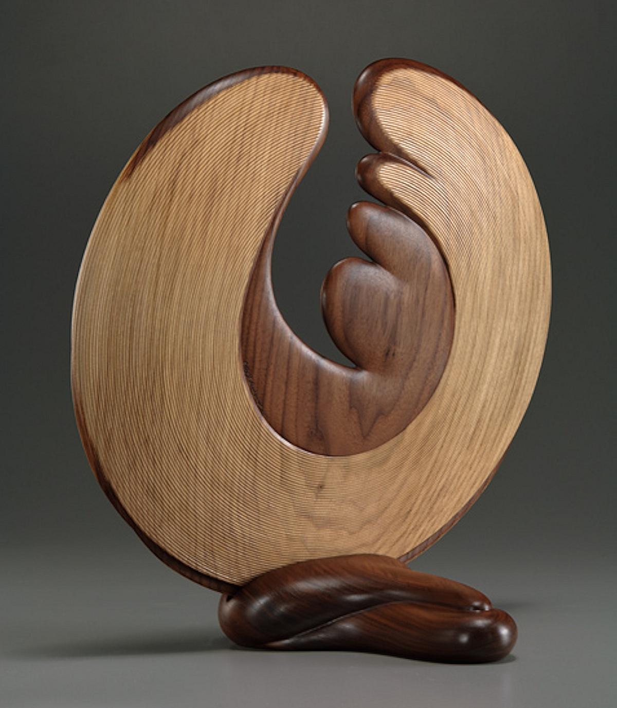 Night Wind wood sculpture by Betty Scarpino (back)