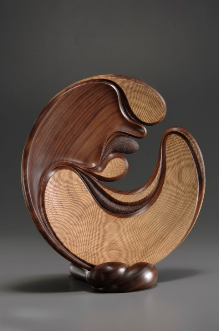 Night Wind wood sculpture by Betty Scarpino